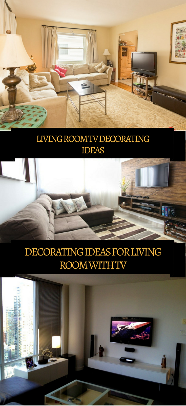 LIVING ROOM TV DECORATING IDEAS (DECORATING IDEAS FOR ...