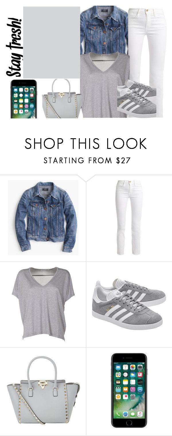 """""""Stayin frsh"""" by anna-bigsis ❤ liked on Polyvore featuring J.Crew, Frame, Acne Studios, adidas Originals, Valentino and Behance"""
