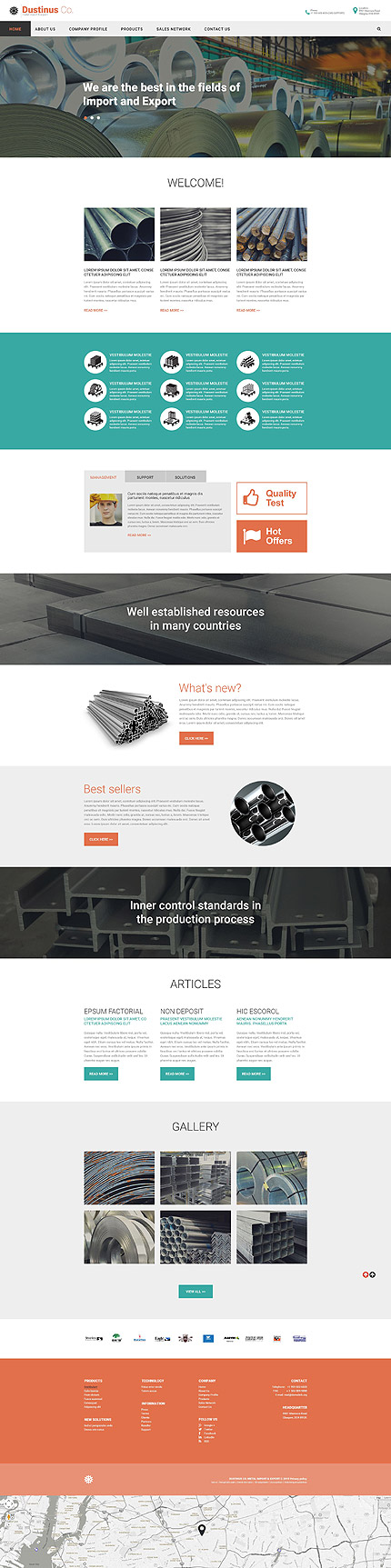 Import & Export Services Company #website #template. #themes ...