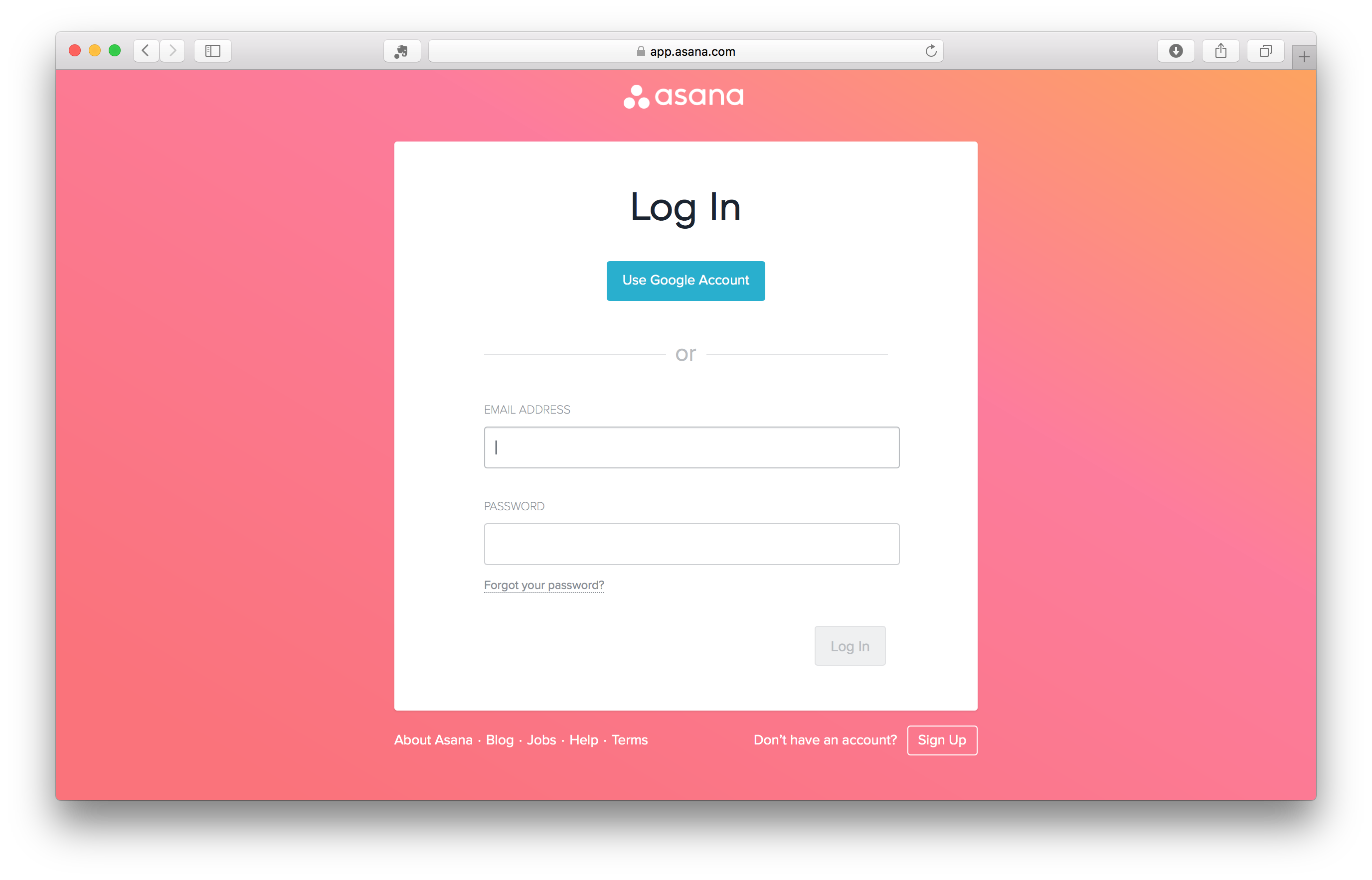 Asana Login Page (With images) Login page, Blog, Google