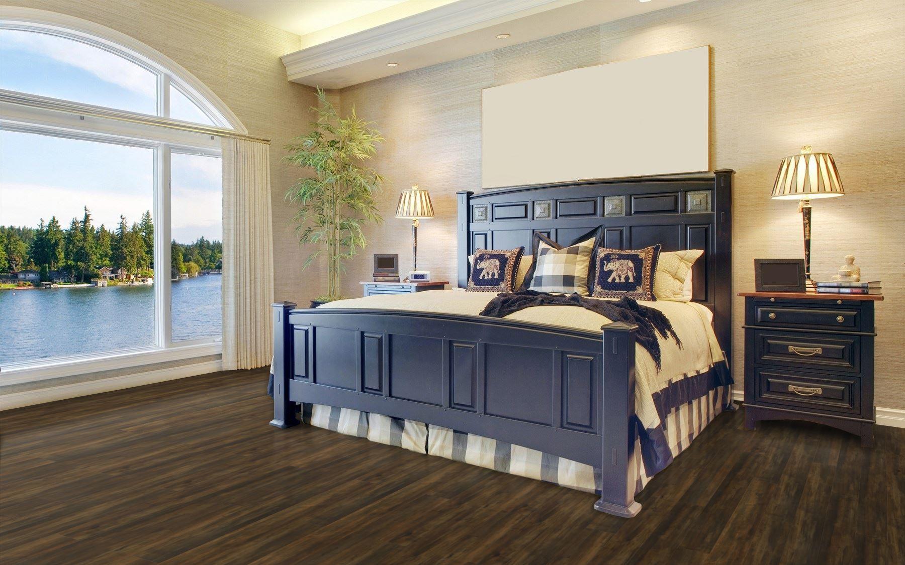 Standard Dark Maple Laminate Flooring Luxury Bedroom Master Master Bedroom Design Interior Design Bedroom