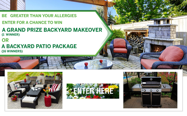 Give completely new look to your backyard by winning $30000 backyard  makeover from Flonase November- - Give Completely New Look To Your Backyard By Winning $30000 Backyard
