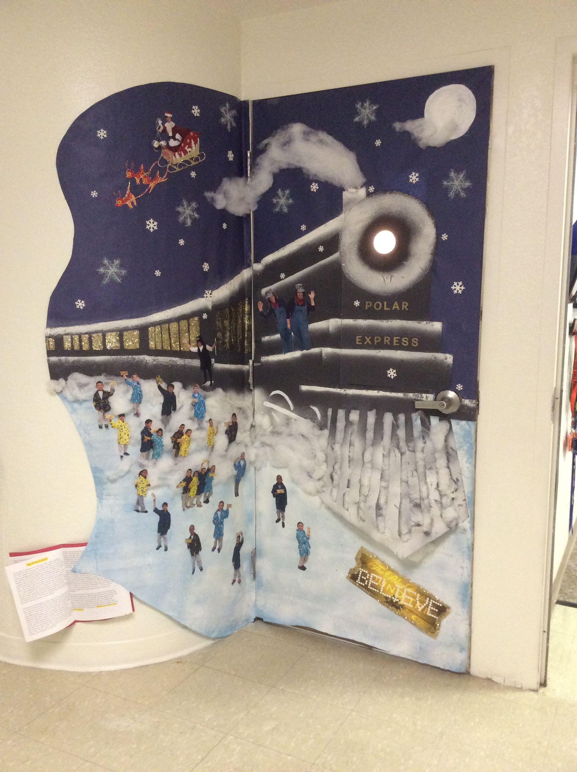 Polar Express Door Decoration   Christmas school crafts ...