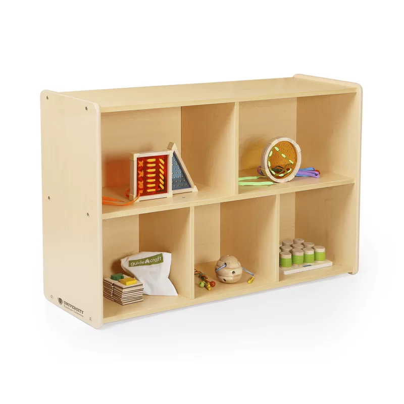 Storage 5 Compartment Shelving Unit Shelving Unit Child Safe Furniture Toy Storage Bench