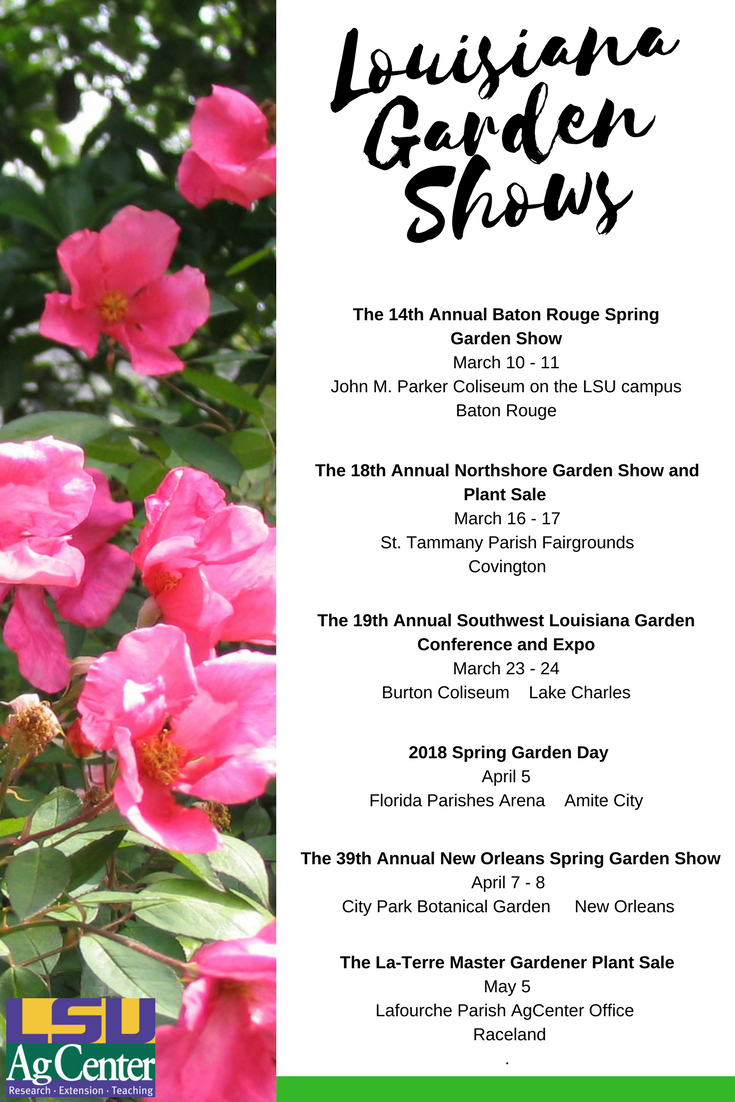 As The Weather Begins To Warm Up Louisiana Gardeners Are Preparing For Spring And Many Will Be Anticipating That First Garden Show Spring Garden Rain Garden