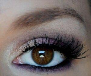 I love purple on brown eyes