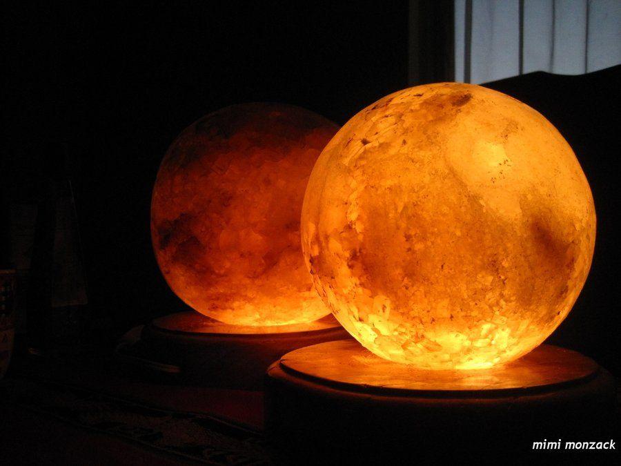 HIMALAYAN SALT LAMPS - Heating of the salt causes the crystal to ...