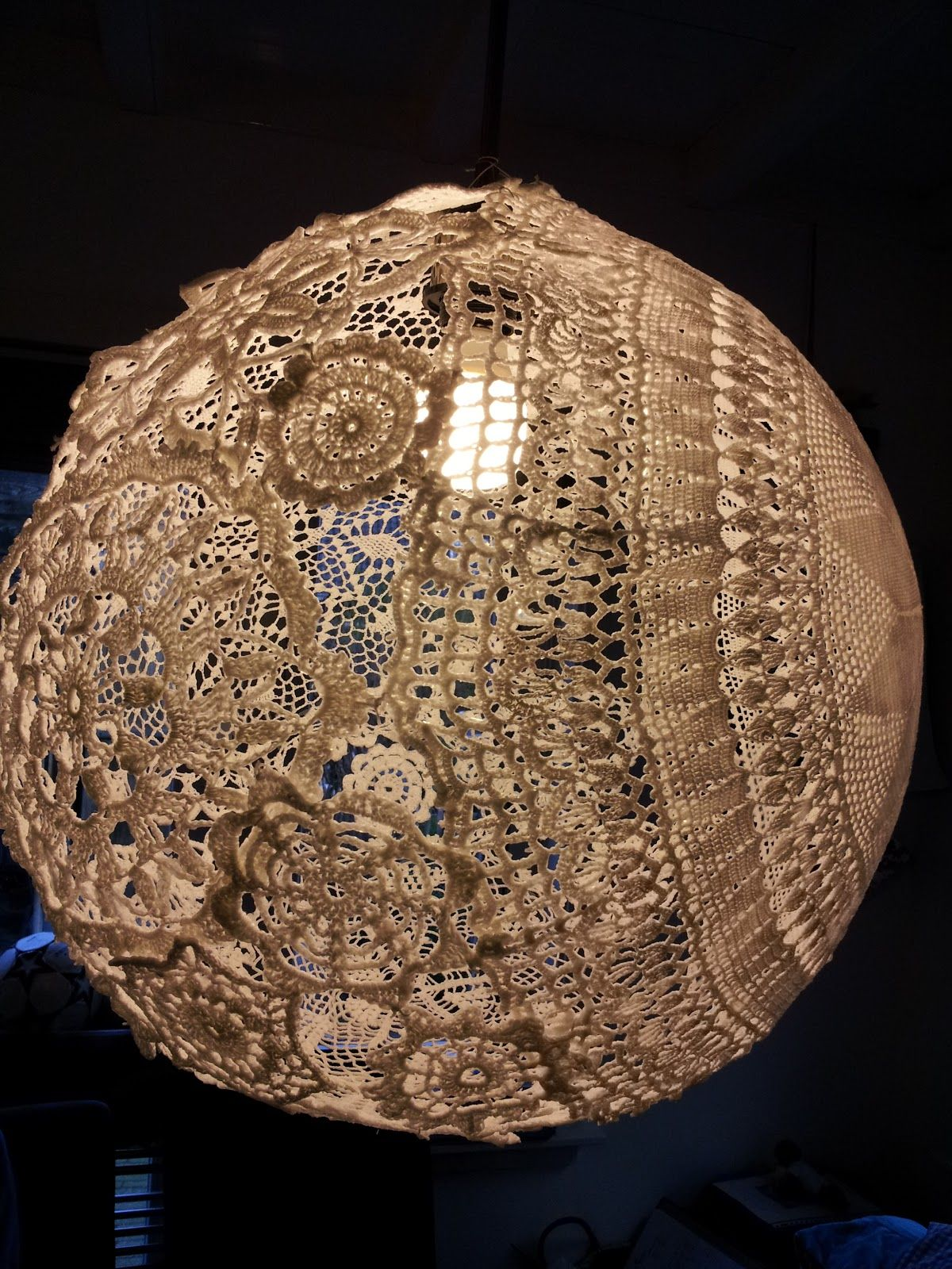 Lace lamp doily and paverpol crochetembroidery more lace lamp doily and paverpol arubaitofo Image collections