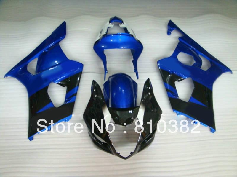 333.87$  Buy now - http://alitah.worldwells.pw/go.php?t=1644323789 - Motorcycle Fairing kit for SUZUKI GSXR1000 03 04 GSXR 1000 GSX-R1000 K3 2003 2004 blue gloss blk Racing Fairings set SD26