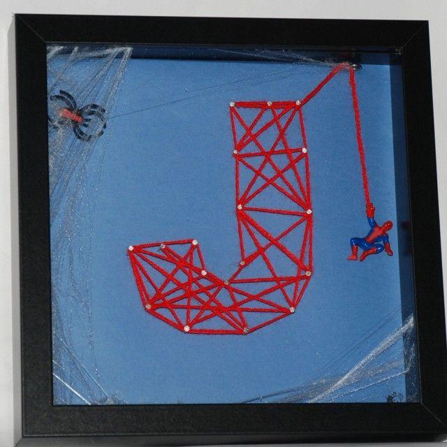 Spider Man Spider man tisse sa toile rouge Décor super-héros - Fabriquer Une Chambre Noire En Carton