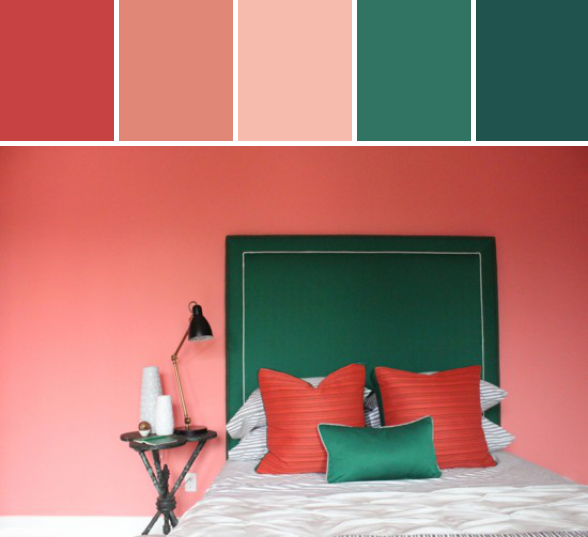 Emerald + Coral Color Story #stylyze