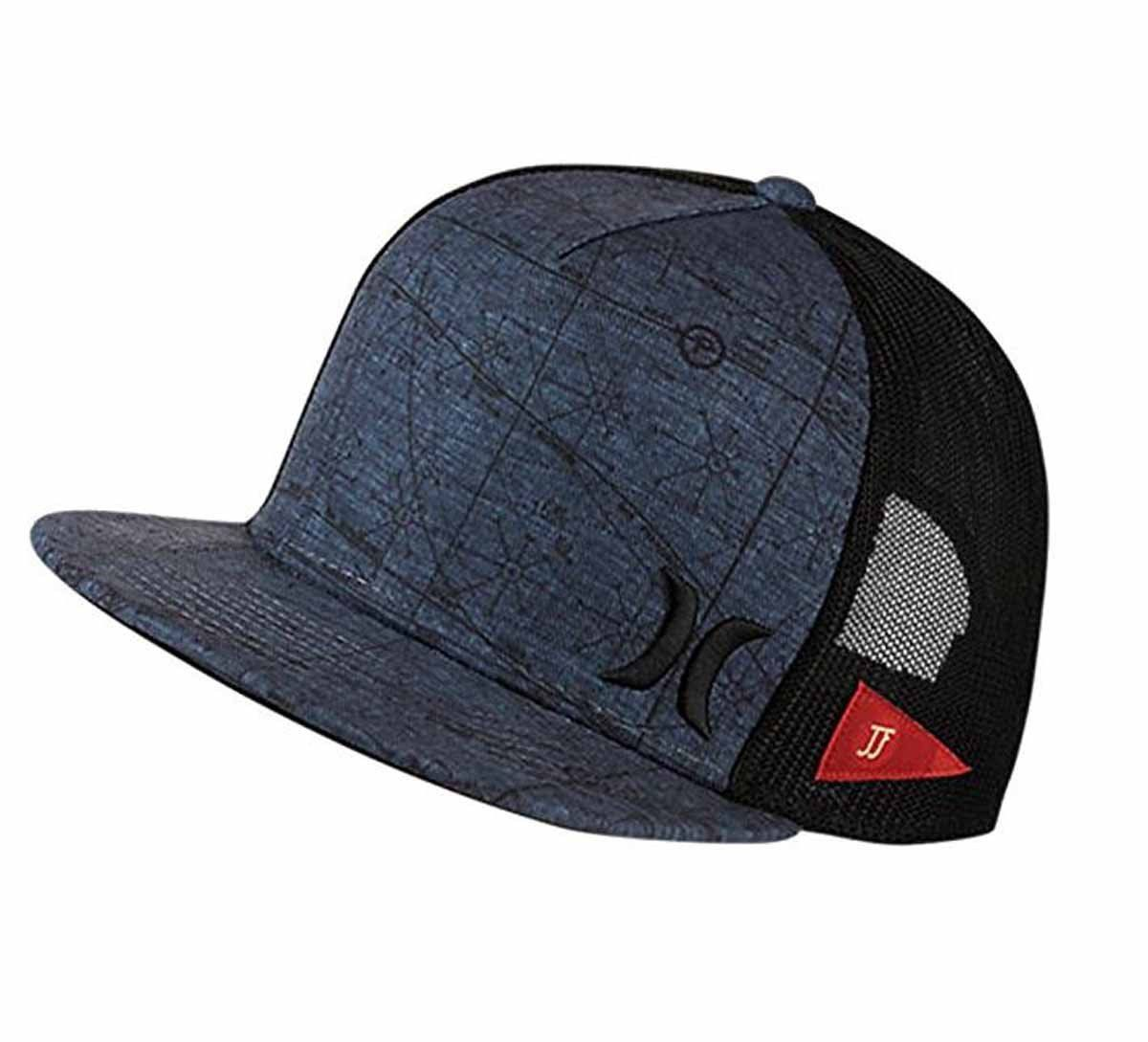 6a49f0255bf Hurley Mens JJF Maps Trucker Adjustable Hat with Nike Aerobill ...