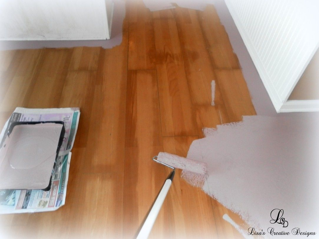 Yes You Can Paint An Old Laminate Floor Painting Laminate