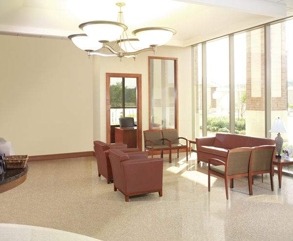First Federal Savings Bank (Evansville, IN) Monterrey lounge seating with Timberlane side/guest seating in lobby/reception area.#NationalOffice #FurnitureWithPersonality