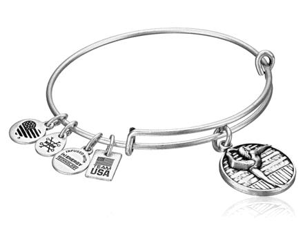 Gymnastics Girl Adjustable Wire Bangle Charm Bracelet