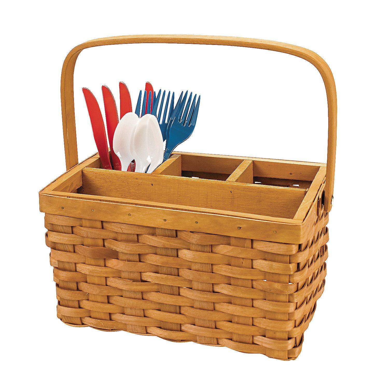 Utensil Caddy Basket | 4th of July Ideas | Pinterest | Utensil caddy ...