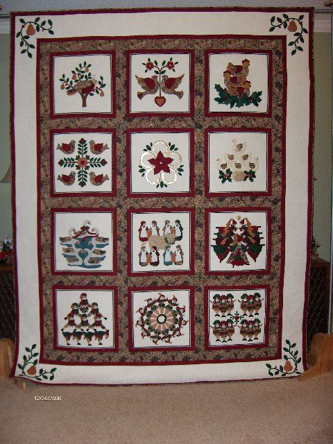12 Days Of Christmas Quilt Christmas Quilt Patterns Quilts Quilt Patterns