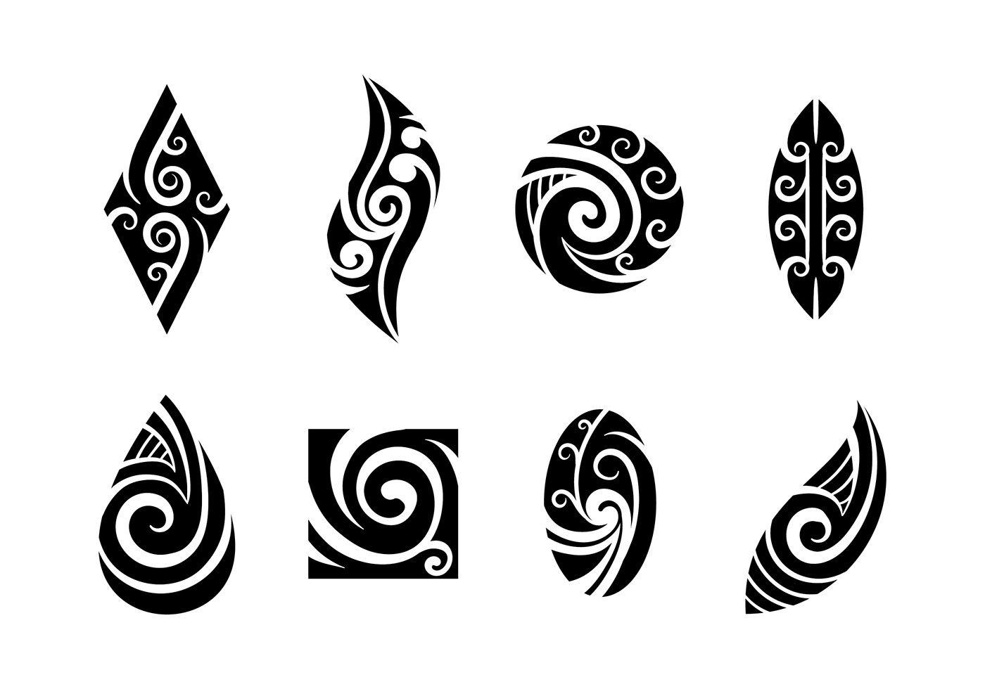 Set Of Koru Maori Vector