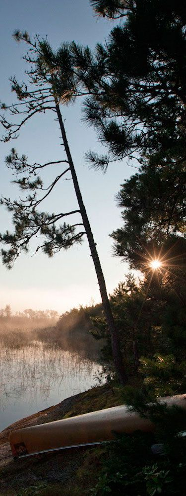 Boundary Waters lakes are so beautiful.  Where were you the last time you saw the thick mist rising off the lake to reveal a bright new day?  Share this pic with friends and let us know.