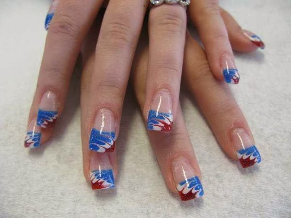 red white and black nail designs | Day183 Red White And Blue Nail Designs - Red White And Black Nail Designs Day183 Red White And Blue Nail