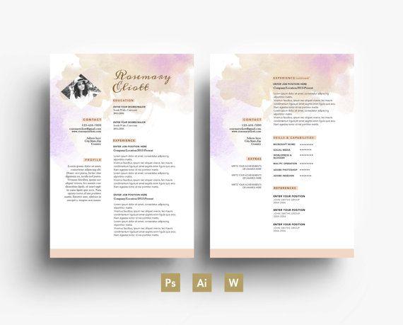 Rosemarry Elliot Digital Template - Résumé - Business card - CV ...