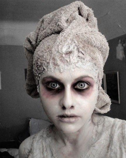Un maquillage de fant me super simple mais tr s flippant - Maquillage zombie simple ...