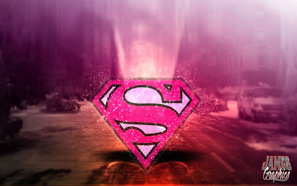 Superwoman Sign Wallpaper Supergirl logo pink wallpaper