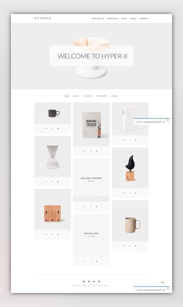 HyperX - Responsive Wordpress Portfolio Theme | Pinterest