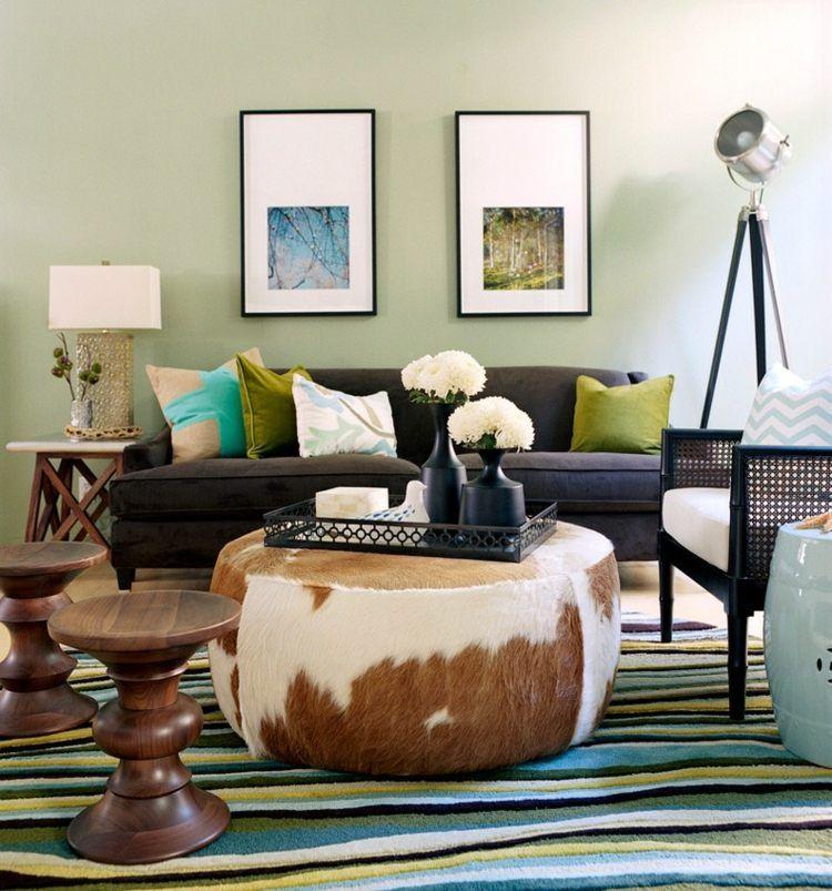 Grün im Wohnzimmer – 25 Beispiele für Farbgestaltung ...
