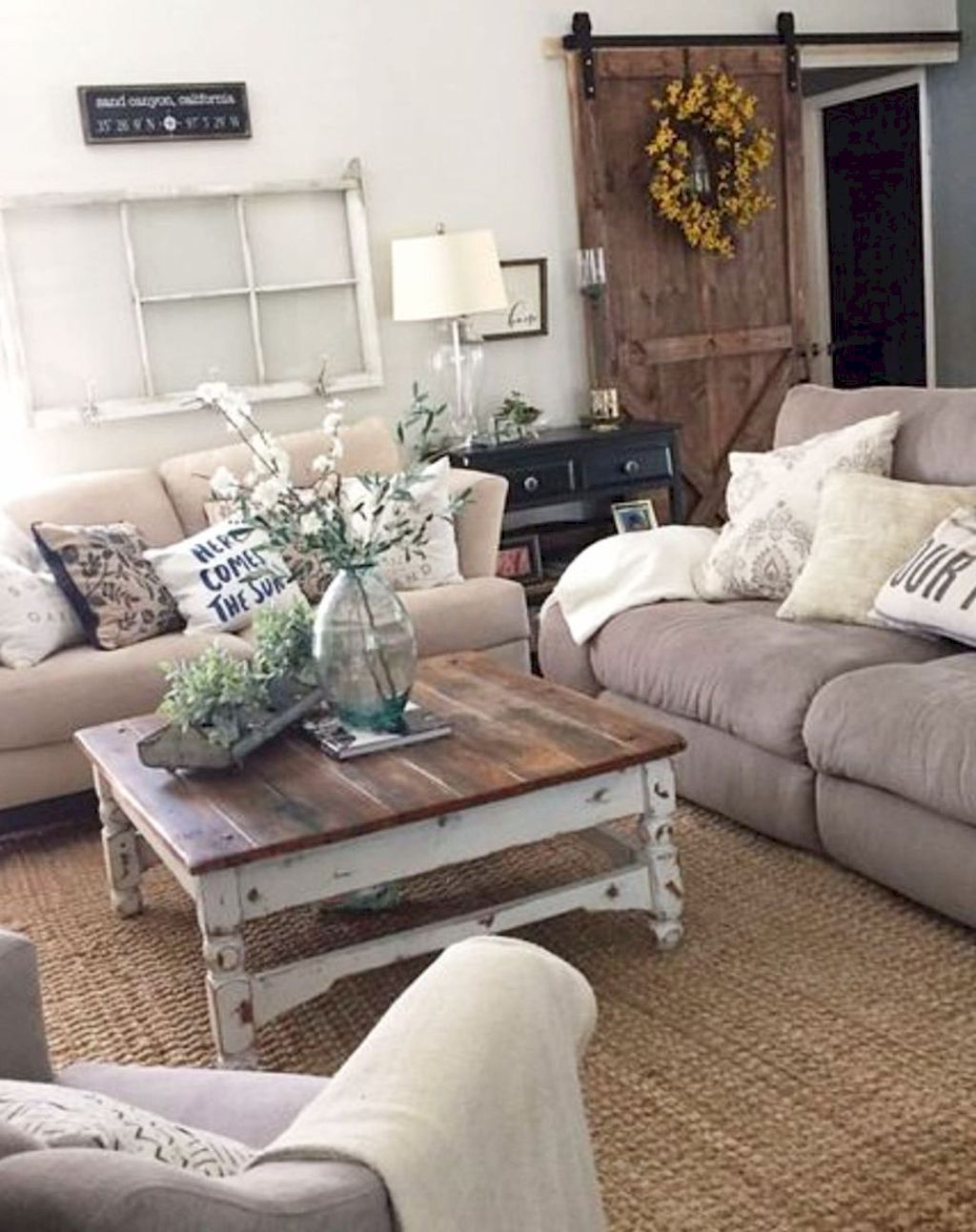45 Cozy Modern Farmhouse Living Room Decor Ideas Farmhouseinteriors Modern Farmhouse Living Room Decor Rustic Chic Living Room Farmhouse Decor Living Room