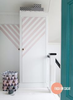 DIY painted wardrobe #decor #DIY #façavocêmesmo