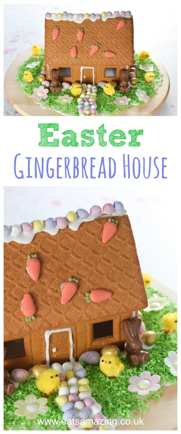 Easter Gingerbread House Recipe Gingerbread, Easter