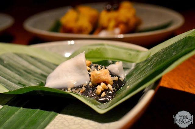 [BKK] nahm - Coconut ash pudding with poached bananas