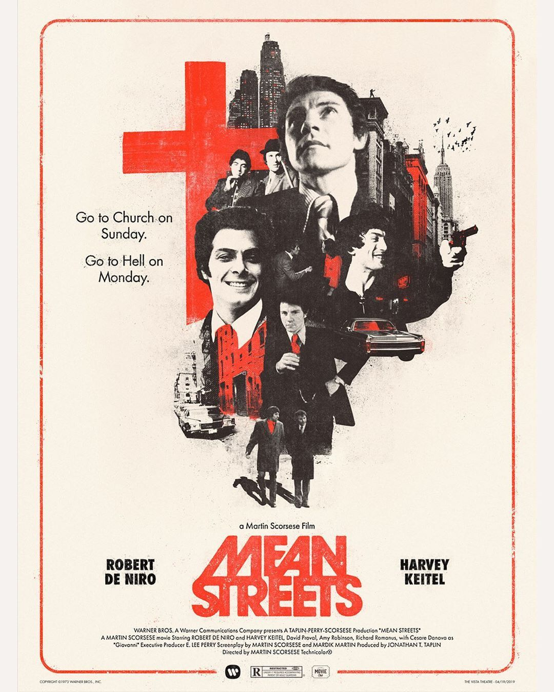 MEAN STREETS 1973 Martin Scorsese Movie Cinema Poster Art Print