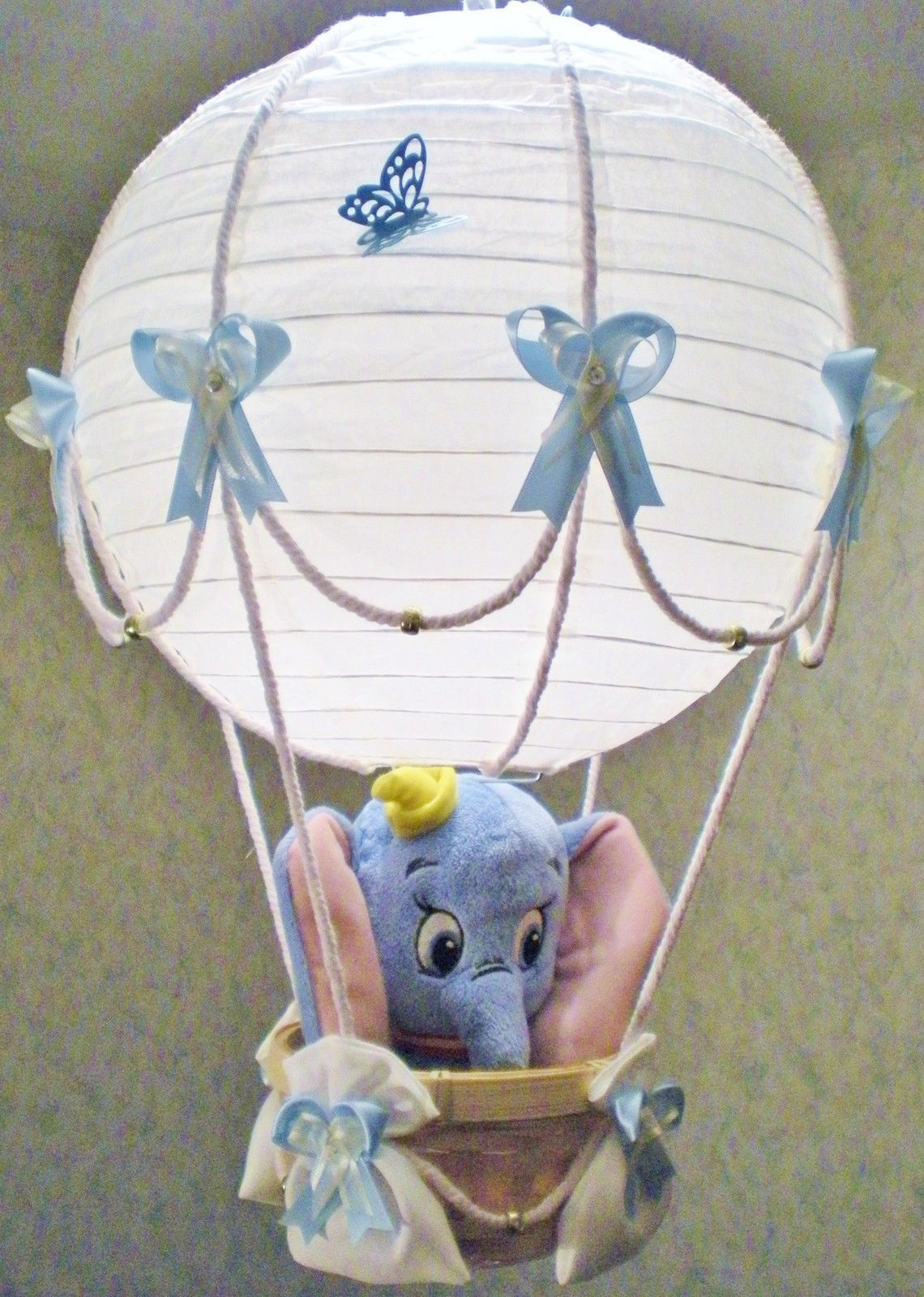 dumbo in hot air balloon lamp light shade for baby nursery ebay party pinterest lamp. Black Bedroom Furniture Sets. Home Design Ideas