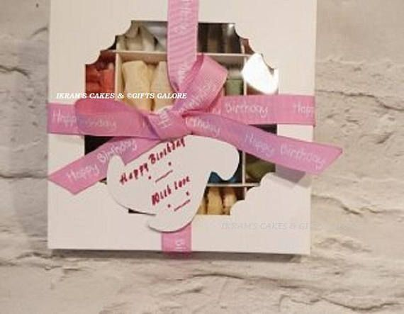 Personalised Halal Birthday Sweet Box Chocolate Gift For Her Candy Sweets Treat