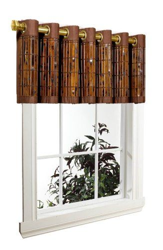 Versailles Home Fashions Bamboo Valance 72 By 12 Inch Espresso