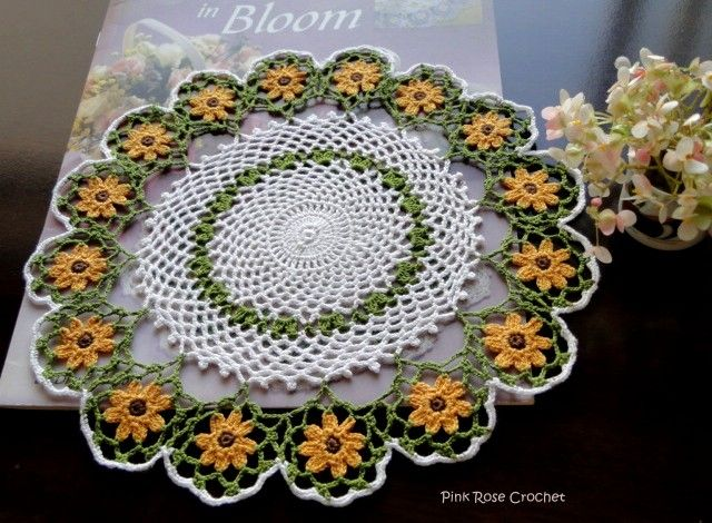 sunflowers crochet | Crochet Doilies in Bloom »Sunflowers Crochet ...