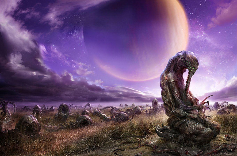 Alien Landscape Wallpaper In 2019 Alien Art Art