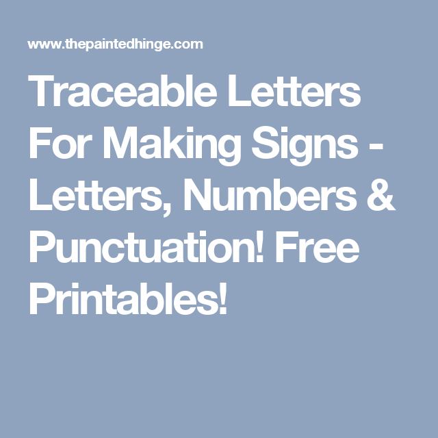 Free Printable & Traceable Letters For Making Farmhouse Style Signs ...