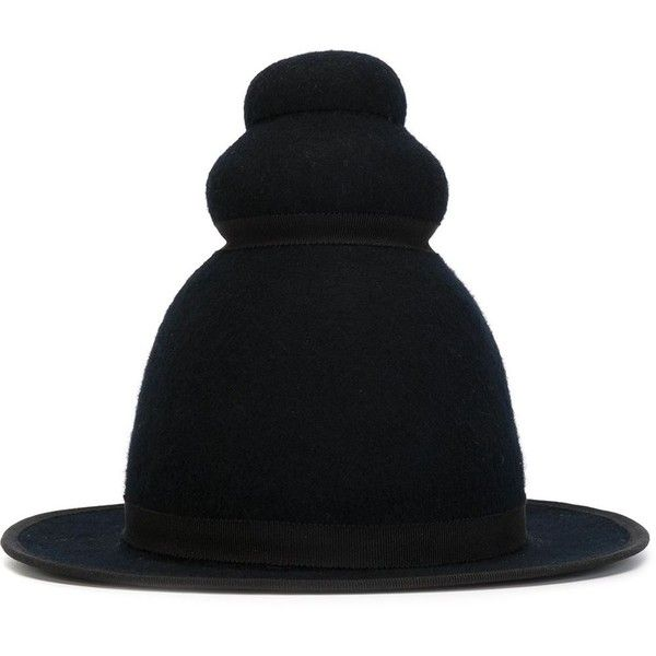 Henrik Vibskov Felt Top Hat ($250) ❤ liked on Polyvore featuring accessories, hats, black, band hats, top hat, henrik vibskov, henrik vibskov hat and felt hat