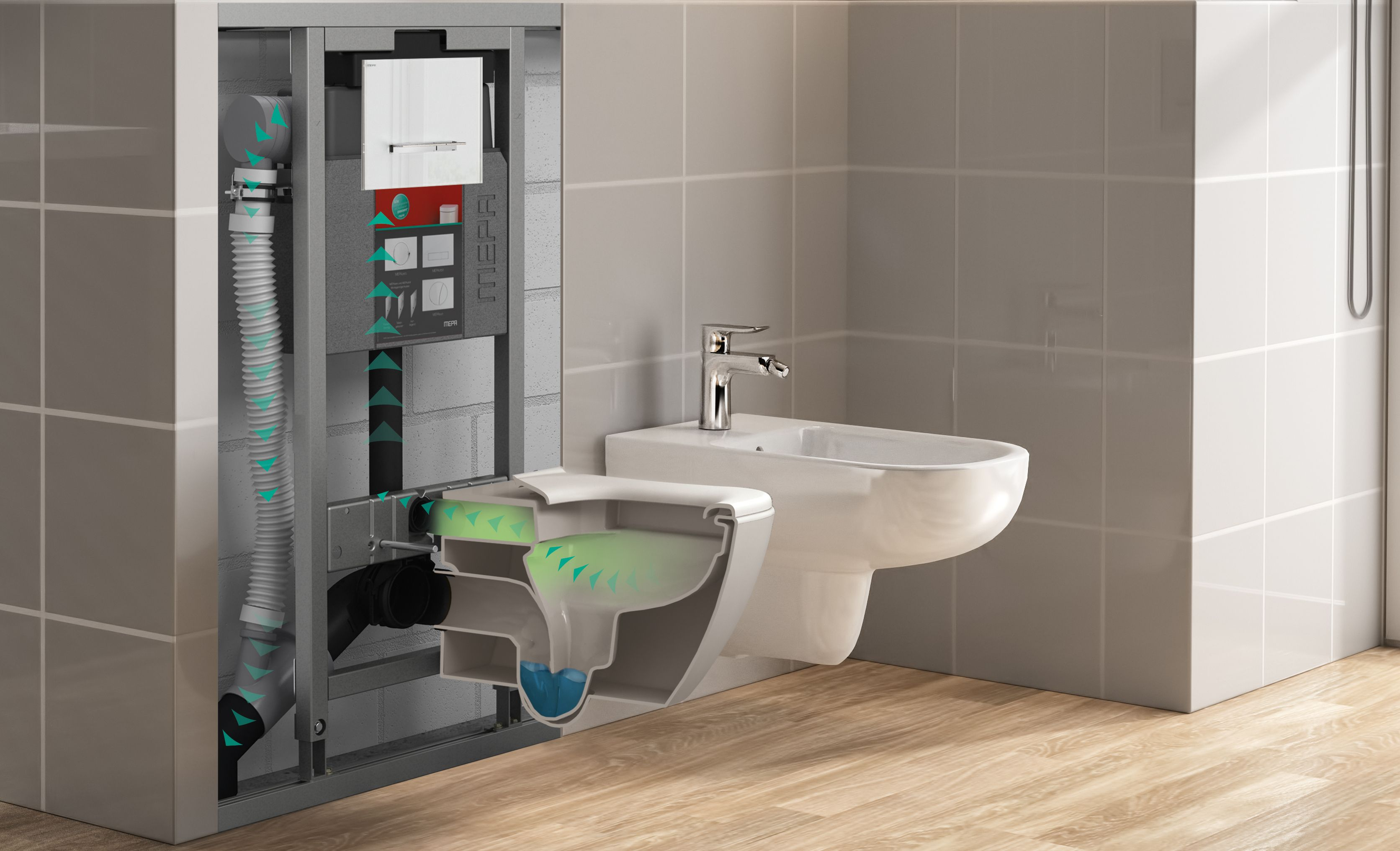 Mepa Vorwandinstallationssystem Varivit Weiter Ausgebaut Vorwand Badezimmer Sanitar