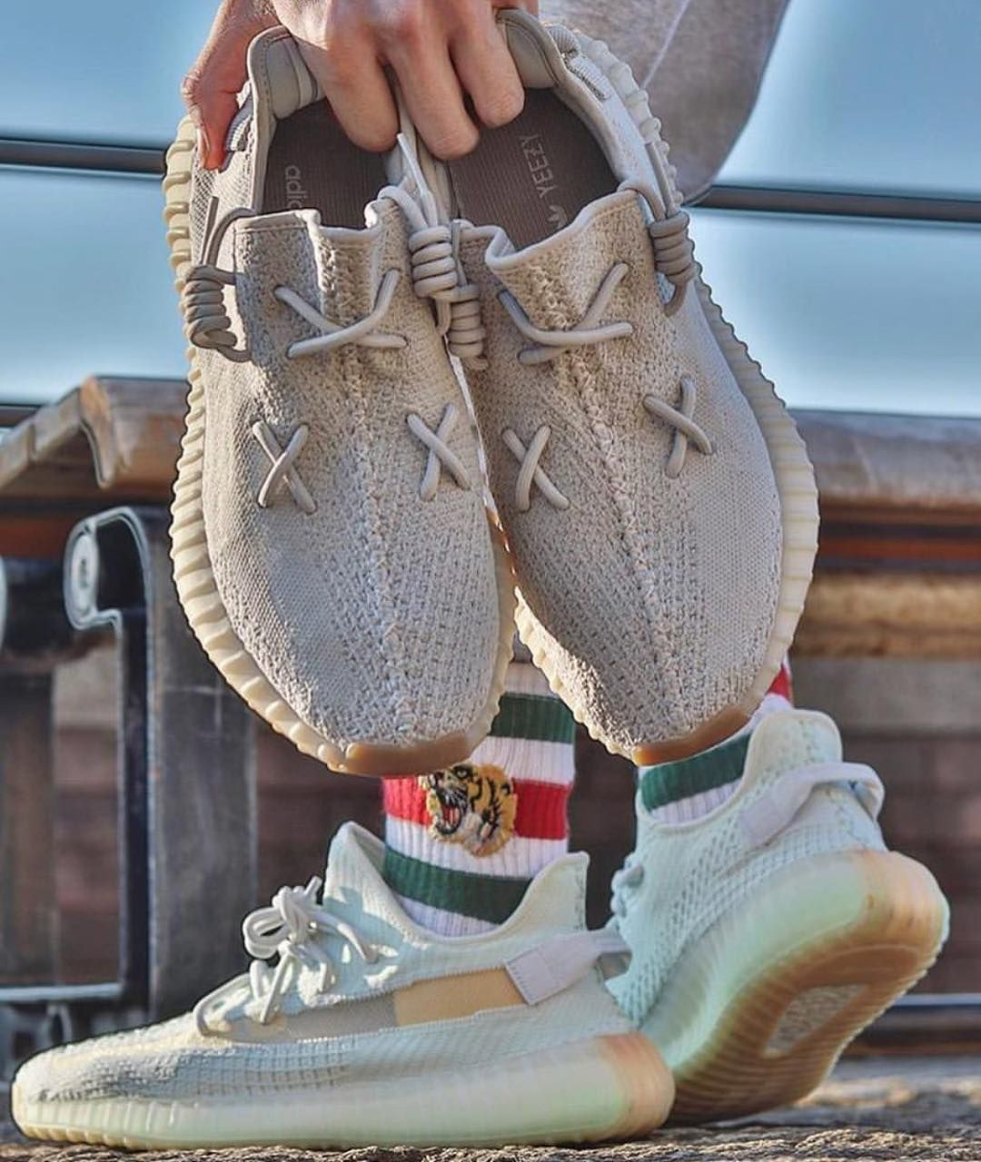 How would you lace your Yeezy? X_X . Available at SNEAKER