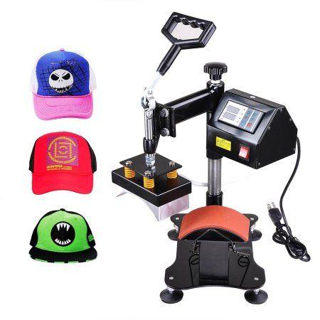 Yescom 5 1 2x3 Digital Heat Press Transfer Sublimation Machine Hat Cap Walmart Com Heat Press Machine Press Machine Best Heat Press Machine