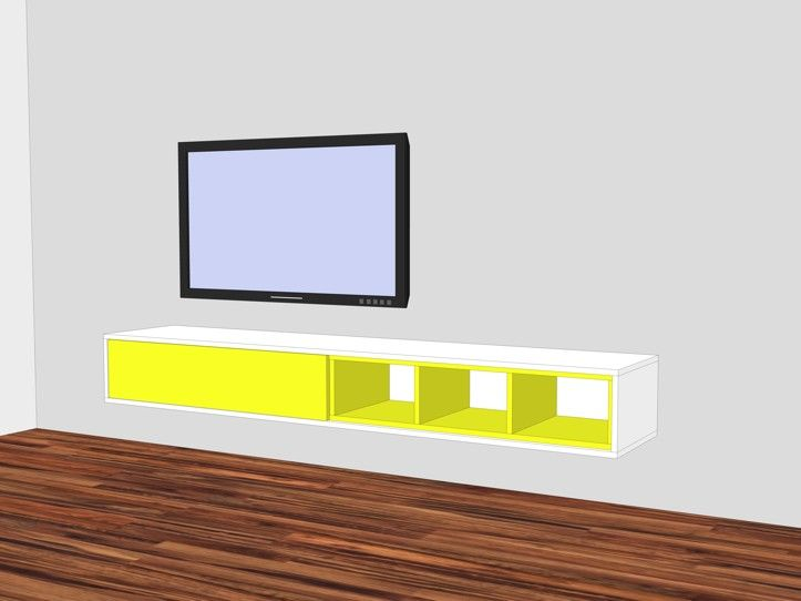 Tv Meubel Zelf Bouwen.Floating Tv Furniture Arturo Xl Build It Yourself With The