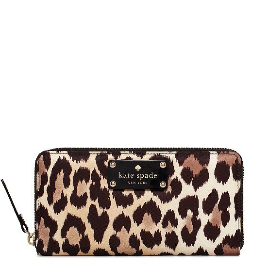 Kate Spade wallet. My newest addition to my wallet family.