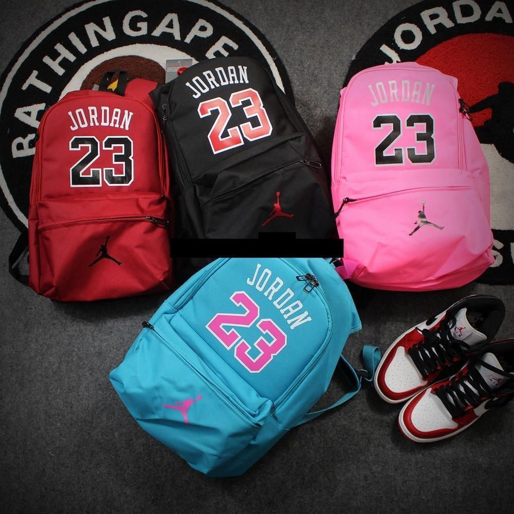 Jordan 23 Backpack Black Red Fashion Backpacks Computer East Pack School  Canvas  aa373b8787fab