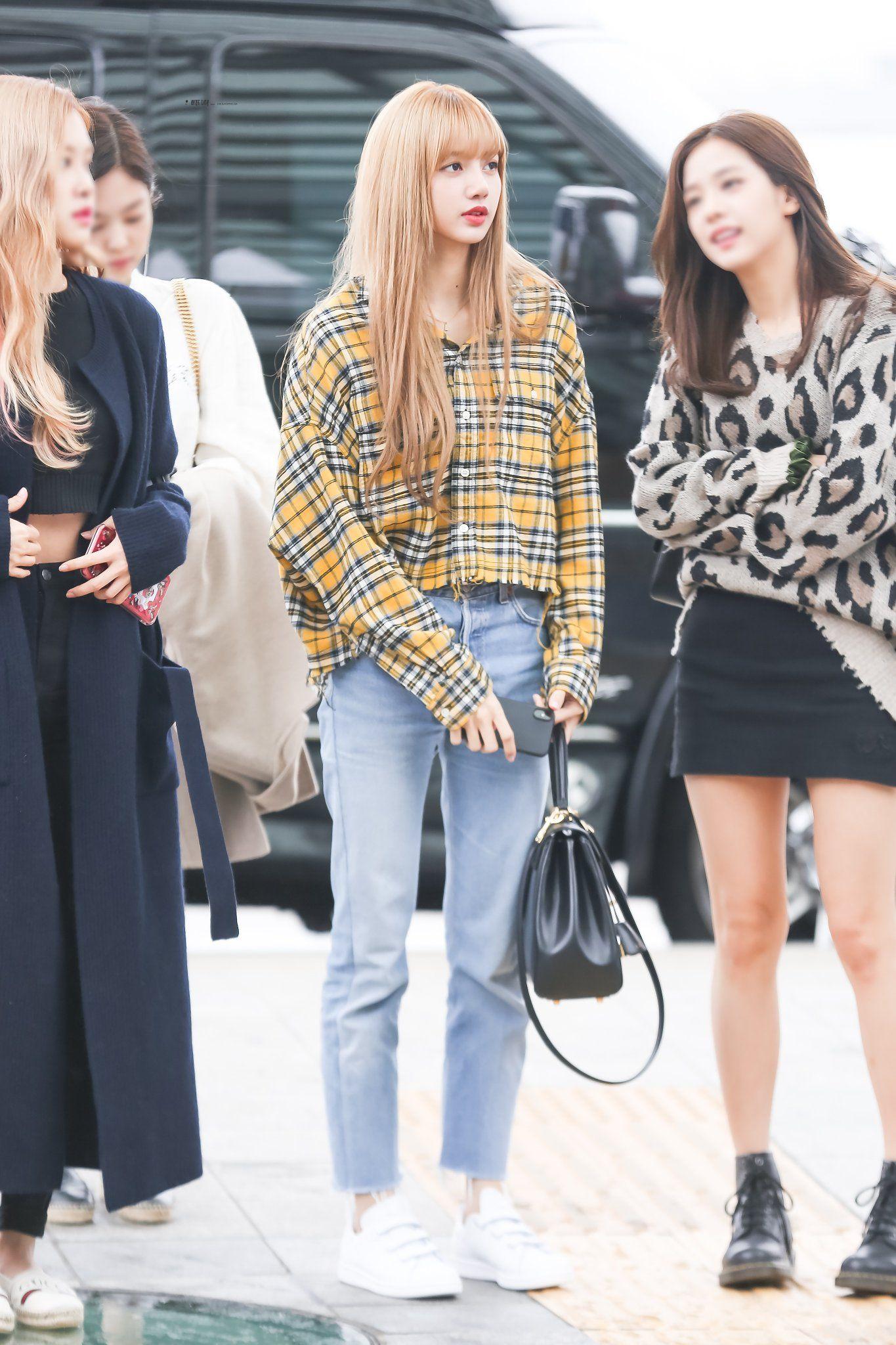 Wine Lisa On Twitter Blackpink Fashion Korean Airport Fashion Fashion