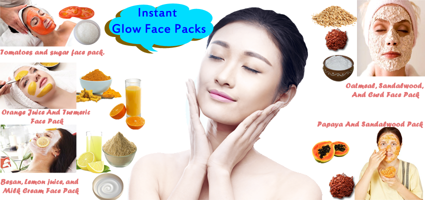 How To Get Fair And Glowing Skin Best Homemade Instant Glow Face Packs For Oily