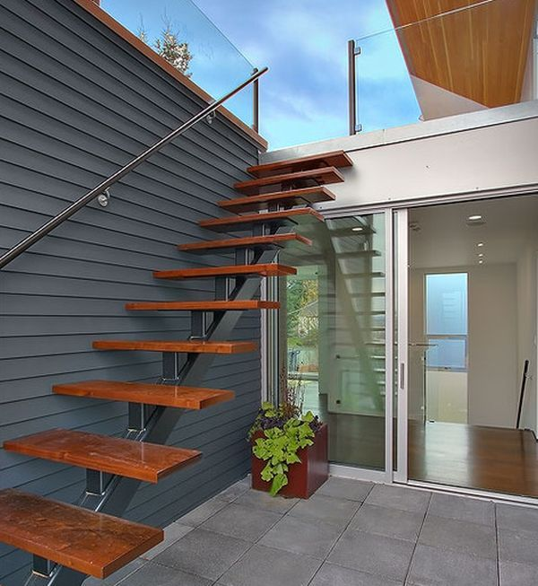 Floating Staircase Ideas: Suspended Style: 32 Floating Staircase Ideas For The